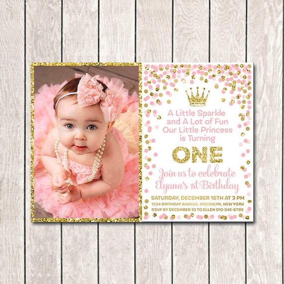 1st Birthday Invitation Printable Girl