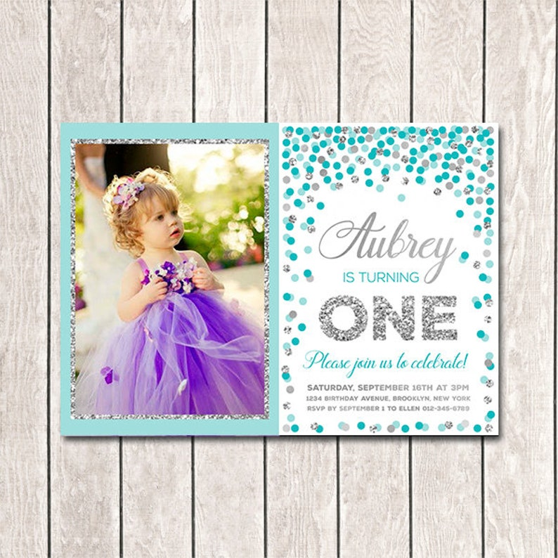 Girl Birthday Invitations Printable 1st Invitation
