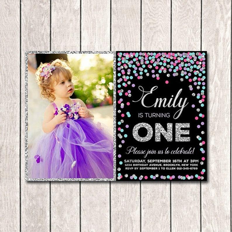 Girls Birthday Invitations Printable First Invitation