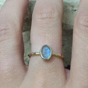 SALE Three stone ring,Gray rainbow ring,Labradorite ring,gold gemstone ring,vintage ring,bridesmaid rings,wedding gifts,stack ring