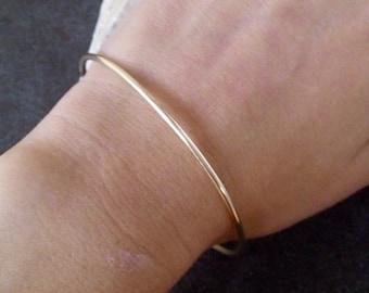 SALE!! Everyday bangle,delicate bracelet,Single bracelet, gold bangle,stacking bracelet, thin bracelet,simple band