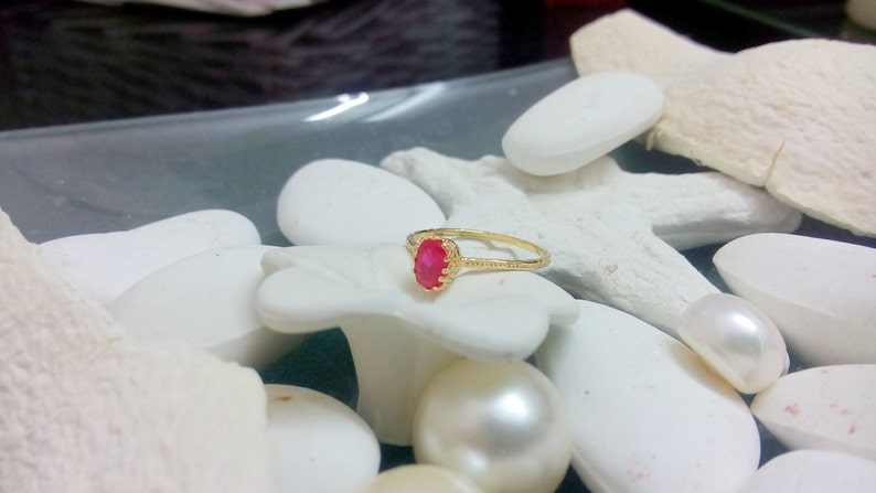 July birthstone ring,Stacking Ring Thin Stackable Ring,Vintage Ring,Gemstone Ring SALE Ruby Ring,Gold Ring Fuchsia Ring,Bridal Ring