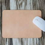 Leather Mouse Pad, Mouse Pad, Leather mousepad, Monogram Mousepad, Hand Cut from Vegetable Tanned Leather