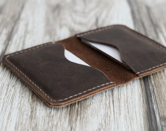 Leather Business Card Holder Etsy