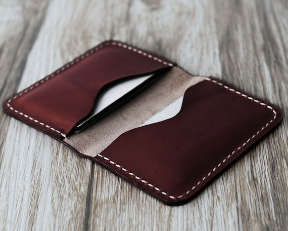 Personalized Leather Business Card Holder 110 Bussiness Card Etsy