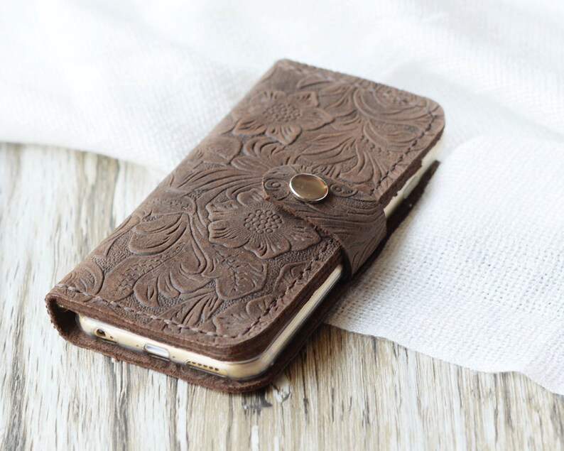 premium selection 1a405 27948 Tooled leather iPhone 6 wallet case iPhone 5s wallet case iPhone 6s case  iPhone 6 plus wallet case iPhone SE case iPhone 6s plus case