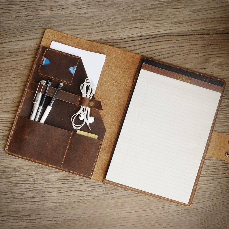 the latest a1760 7a0fe Personalized leather Portfolio, Notepad holder, 8.5 x 11.75 letter size  Writing padfolio, Leather Business Folio, Work portfolio, D311