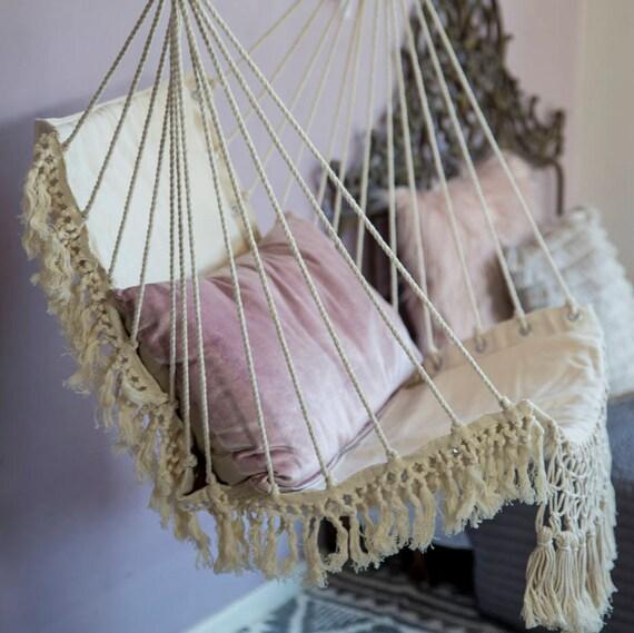 Hammock Chair Macrame Swing Chair Hammock Chair Indoor Boho | Etsy