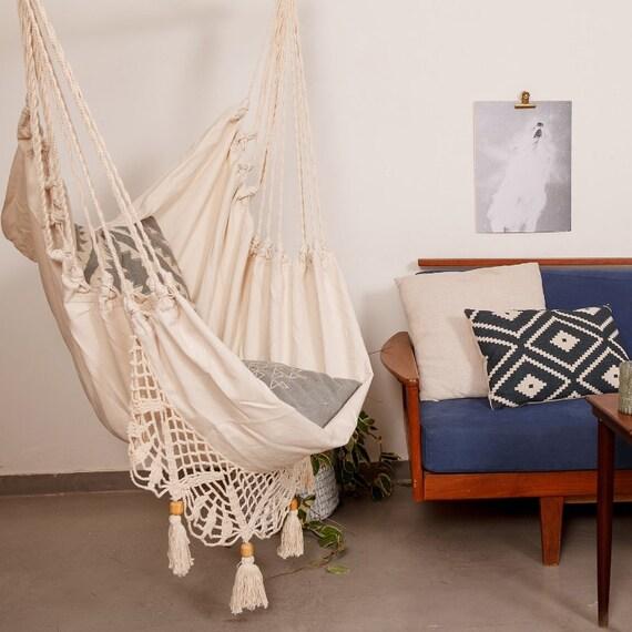 h ngesessel boho schick h ngematte super bequem stuhl mit etsy. Black Bedroom Furniture Sets. Home Design Ideas