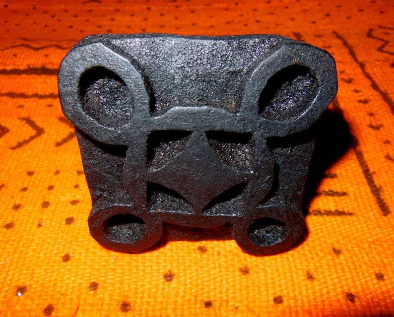 African carved wood stamps for fabric paper clay ghana etsy