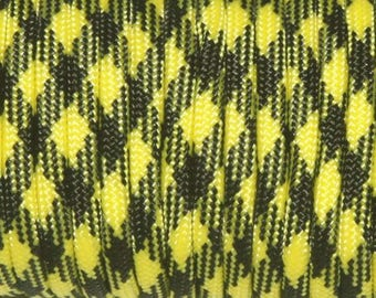 30 feet of Paracord 4mm yellow and black perfect for survival bracelets