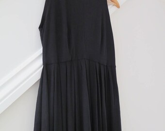 Classic Empire Line Dress -  with a simple drape through the centre created by pleats