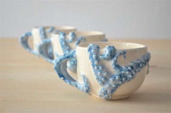 Taza pulpo de cerámica hecha a mano tazas de cerámica | Etsy