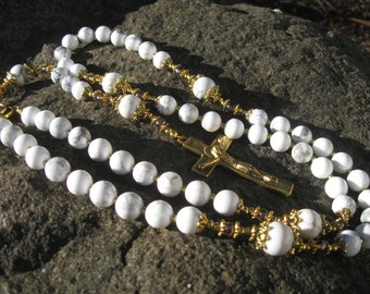 Classic Rosary - Howlite and Czech Glass