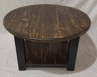 round farmhouse coffee table rustic furniture living room furniture distressed coffee table cottage style table farmhouse decor - Distressed Round Coffee Tables
