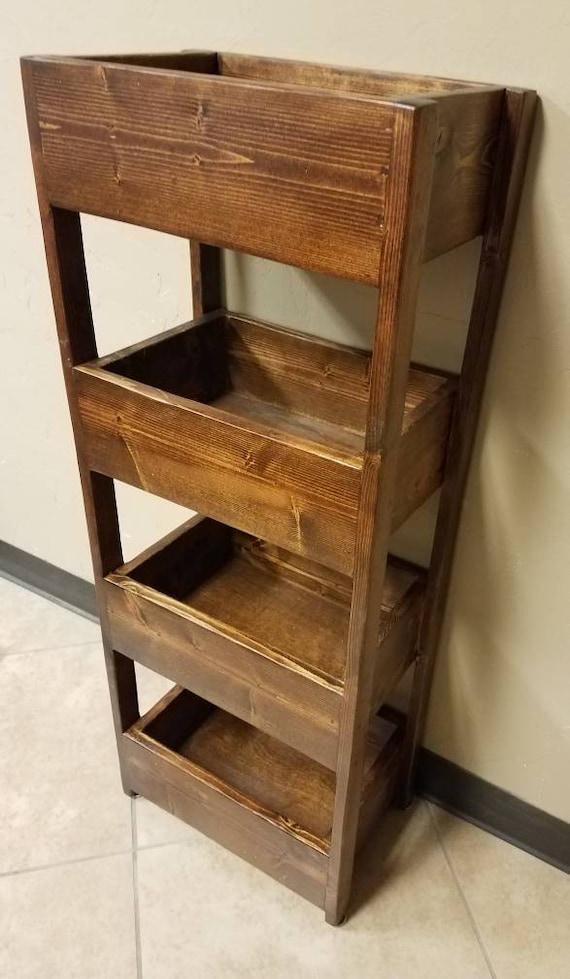 Kitchen storage bins - farmhouse storage bin - reclaimed wood storage bin -  rustic storage bin -