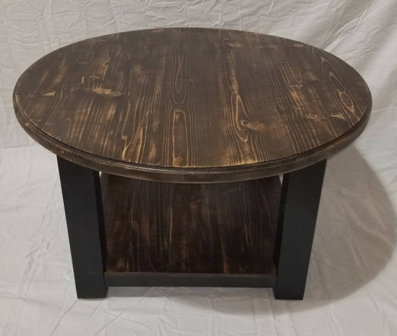Etsy Round Coffee Tables: Round Farmhouse Coffee Table Rustic Furniture Living Room