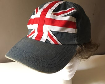 5e4747773 90s Tommy Hilfiger Union Jack Hat Distressed British Flag