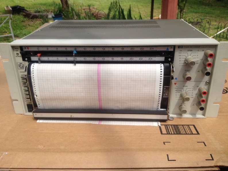 Vintage Thermal Plotter HP 7132A Two-Channel Strip Chart Recorder Good for  Film Prop or Use