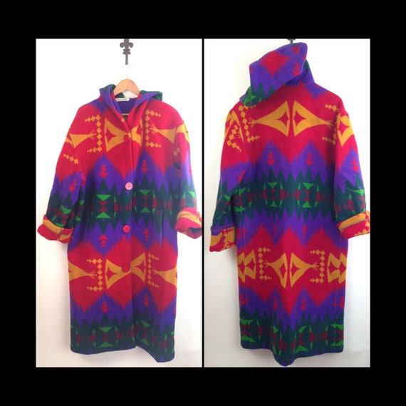 Retro Vintage 80/'s /& 90/'s Fashion Hooded Blanket