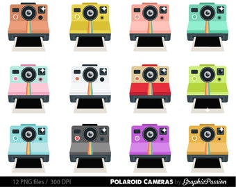 Vintage Cameras Clipart Digital Photography Fun With Film Clip Art For Scrapbooking Card Making Cupcake Toppers Paper