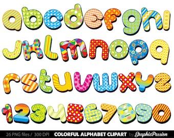 digital alphabet letters digital letters clip art alphabet rh etsy com clipart letters to print online clip art letters alphabet