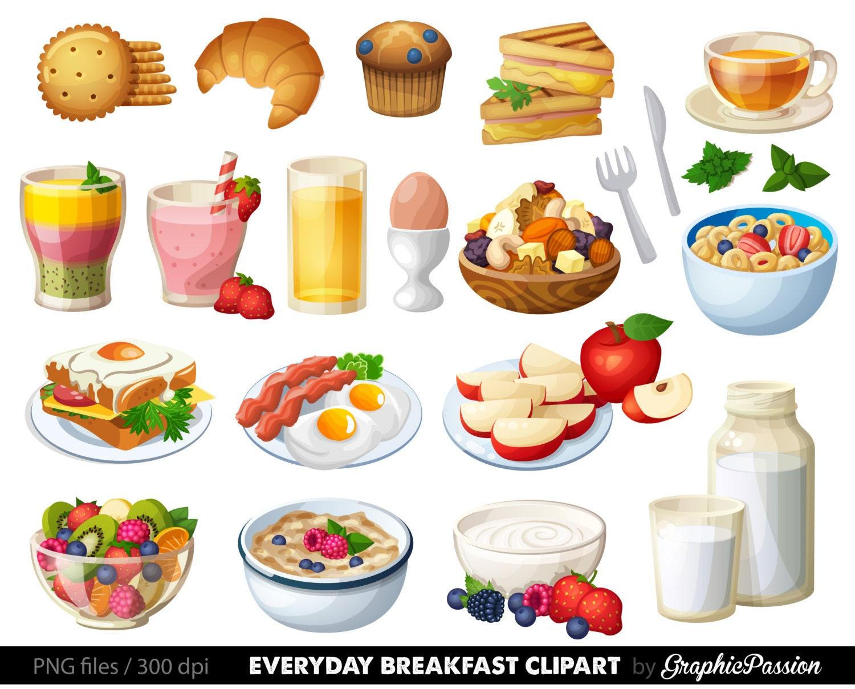 Food Clipart Breakfast Cake Clip art Sweet Treat Bakery ...