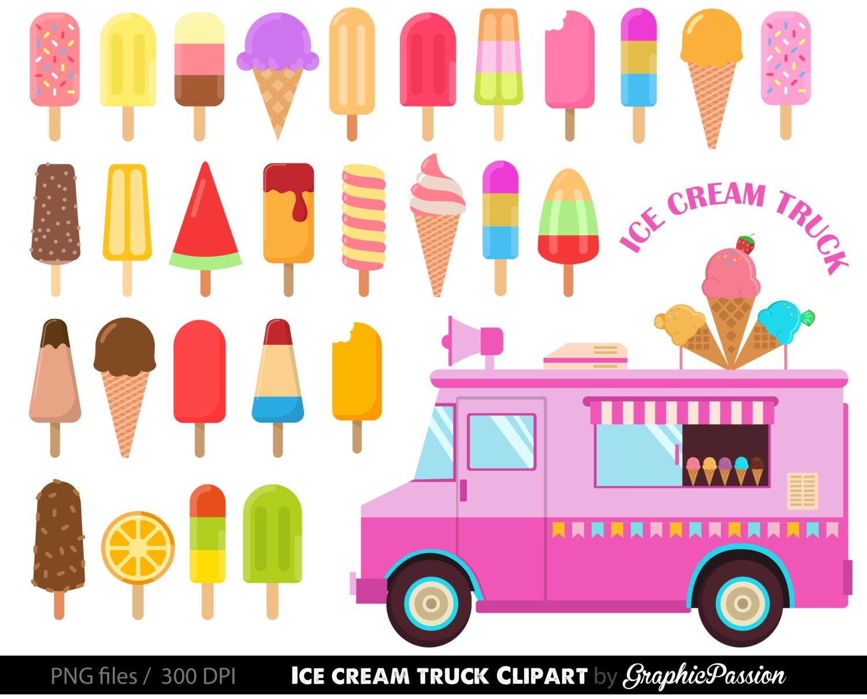 Ice cream Clipart Ice cream Clipart Sweet Treat Bakery clip | Etsy