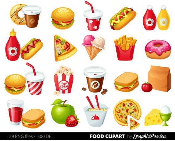 fast food clipart hamburger clip art coffee clip art food etsy rh etsy com fast food worker clipart fast food restaurant clipart