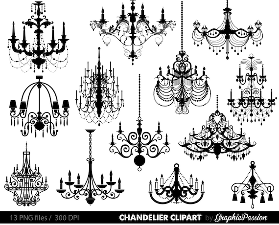 Chandelier clip art scrapbooking chandelier clipart printable etsy image 0 aloadofball Choice Image