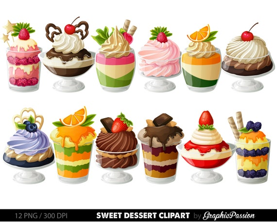 desserts digital clipart cake clip art sweet treat digital rh etsy com desert clip art dessert clipart black and white