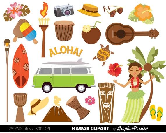 hawaiian luau party clip art luau clipart luau clip art rh etsy com hawaiian clip art free hawaii clip art free printables