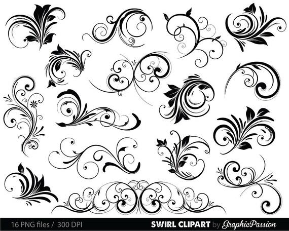 Swirls clipart digital swirls clip art vector swirls photoshop etsy image 0 stopboris Images