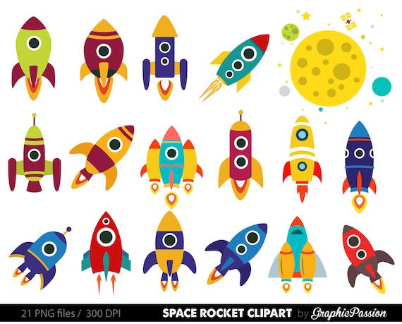 Line Art Rocket : Retro rockets clip art clipart spaceship rocketship space