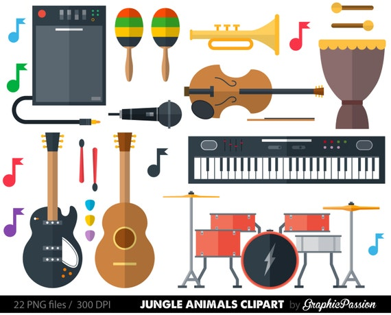 musical instrument clipart clip art music clipart music clip etsy rh etsy com musical instruments clipart free musical instruments clipart black and white