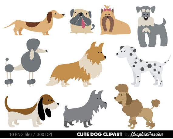 dog clipart puppy clipart cute dogs clip art puppy clipart etsy rh etsy com clip art dogs black & white clip art dogs free