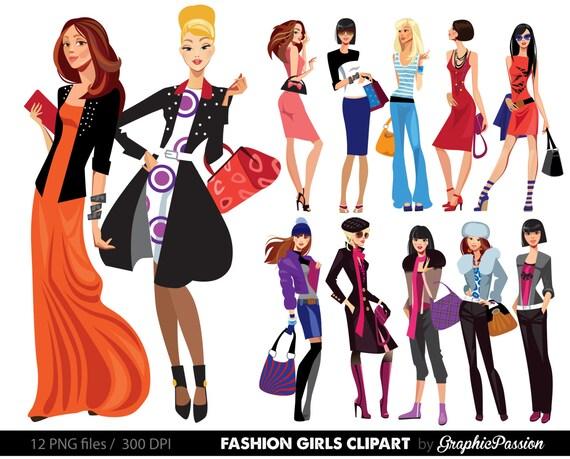 fashion lady clip art fashion girl digital shopping ladies clipart rh etsystudio com clipart ladies luncheon ladies clipart images
