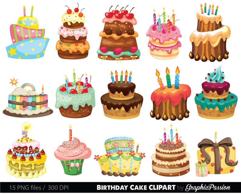 Birthday Cake Clipart Illustration