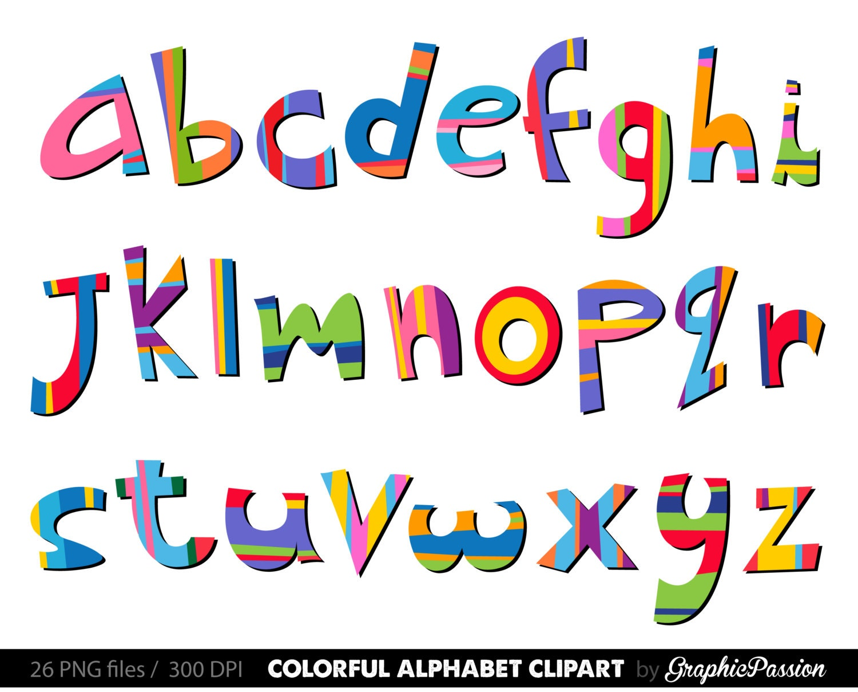 Scrapbooking Alphabet Clipart Color Alphabet Digital