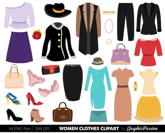 clothes clipart fashion clipart fashion clothes clipart women etsy rh etsy com clothing clipart clothes clipart for kids