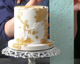 Silicone Fondant Cake Lace Sugar Craft DIY Mat Texture Flower Decorate Mold JS