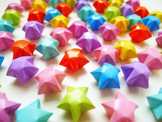 Origami Lucky Stars Candy Colors Wishing Etsy