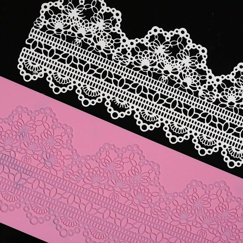 Lace Silicone Mold Fondant Cake Decorating Baking Mat Sugarcraft Mold LS04