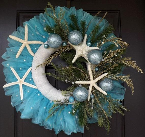24 « à la main fait unique Couronne de Noël de l'île de Tybee - étoile de mer Noël ! -Grand cadeau