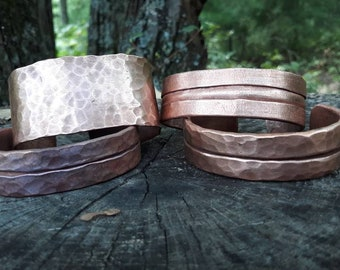 """Hand forged copper bracelet or arm band (14"""")"""