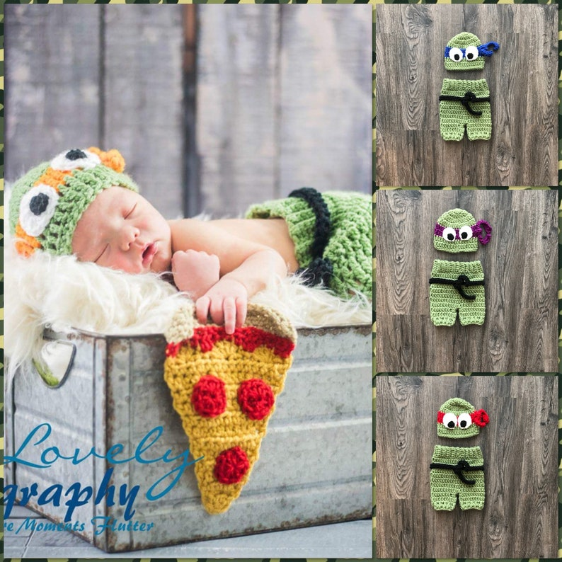 Newborn Teenage Mutant Ninja Turtle Inspired Photo Prop Outfit