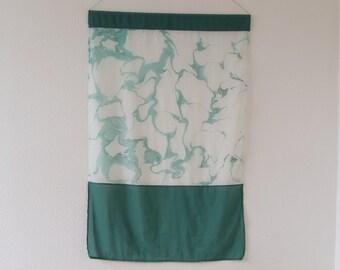 Handmade Marbled Wall Hanging. Textile/ Fiber Art. Home Decor. Bojagi. FLAG / VISION