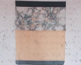 Handmade Marbled Wall Hanging. Textile/ Fiber Art. Home Decor. Bojagi. HUE / MELBA