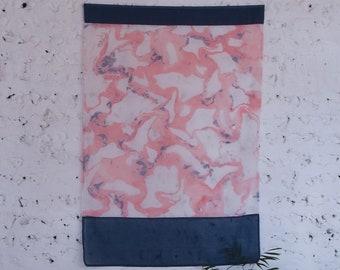 Handmade Marbled Wall Hanging. Textile/ Fiber Art. Home Decor. Bojagi. FLAG / INHERITANCE
