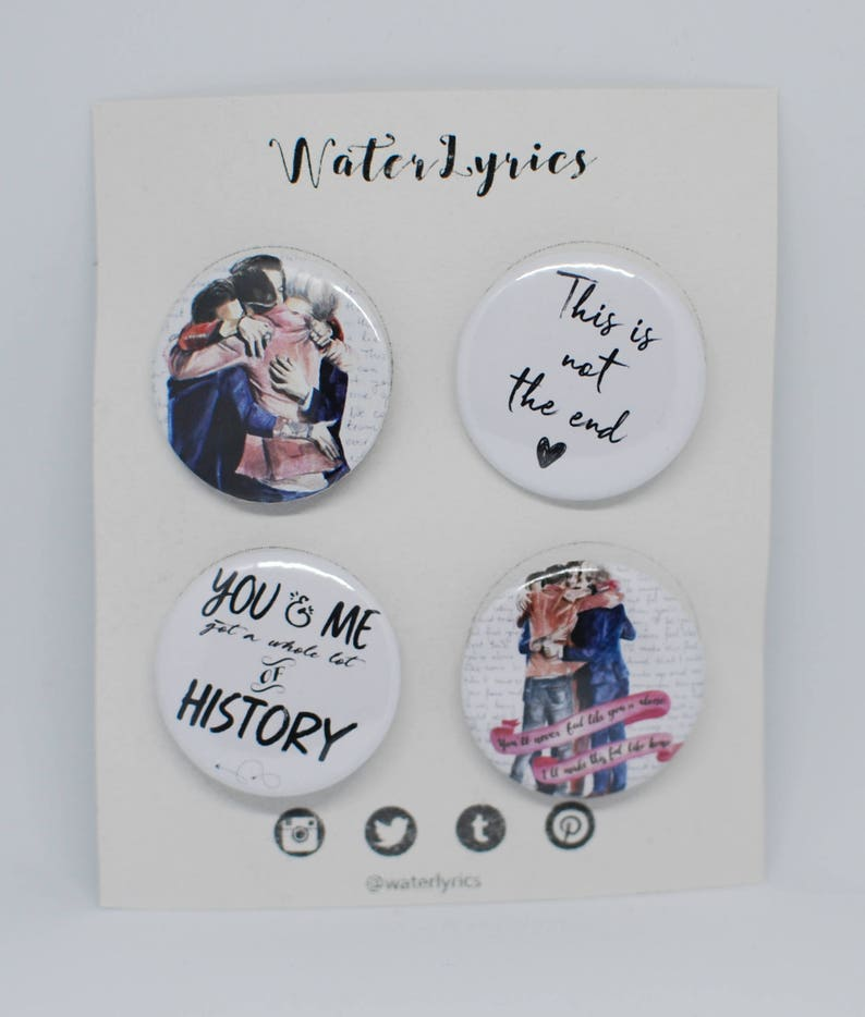ONE DIRECTION 'History' /// button set